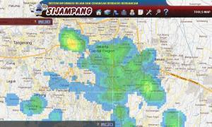 citra radar BPPT 9 Oktober 2011 pukul 19 wibb, di Jakarta dsk.